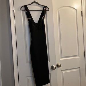 Ted Baker Black MIDI dress with rose gold zipper